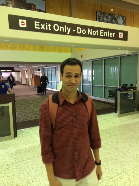 Wanderson Alves arriving in Phoenix for his Immersive Artist Residency and Exhibit   10-6-14