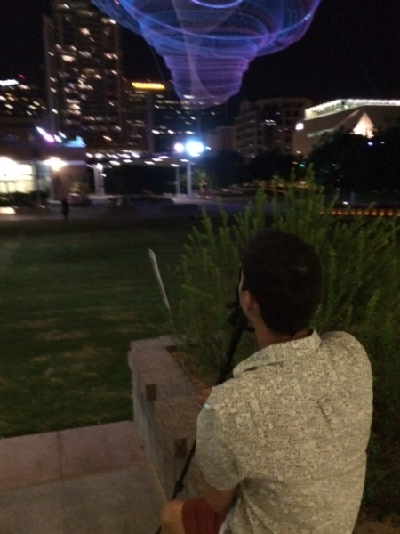 Wanderson photographing in Downtown Phoenix  10-17-14