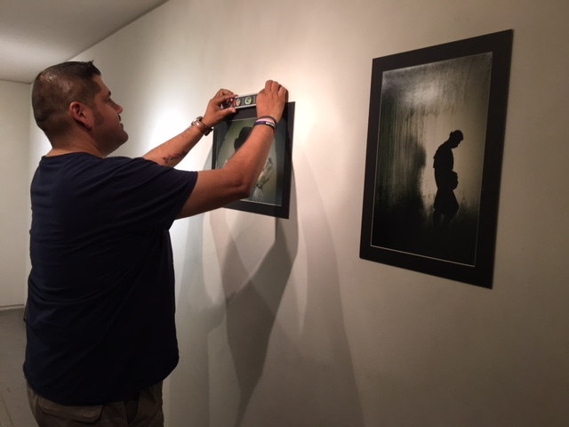 Ruben-working-on-the-installation-of-his-exhibition-10-20-16.JPG