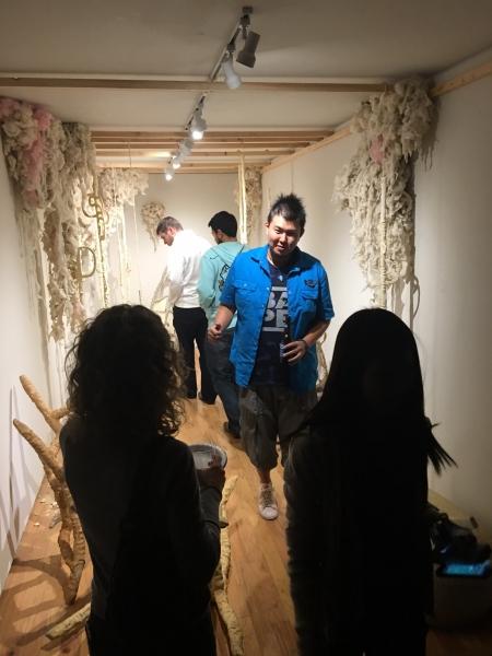 Takashi Hara, phICA October Onloaded artist, visiting Fault Lines. 11-20-15