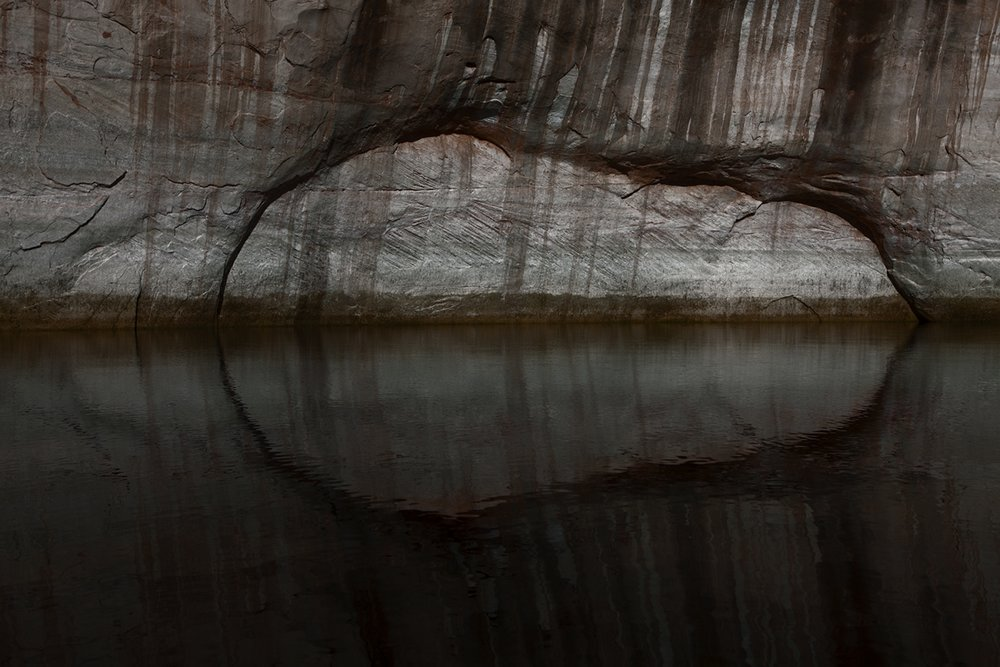"Rock Fracture Patterns and Reflection , 2012, Archival Inkjet, 30 x 23"". Courtesy of the Artist."