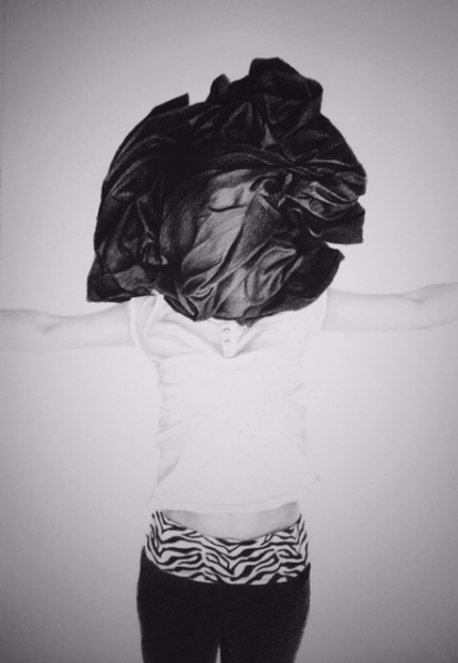 Sin título (Untitled) 5 , 2015 Charcoal, conte crayon drawing on paper 40 x 27 inches