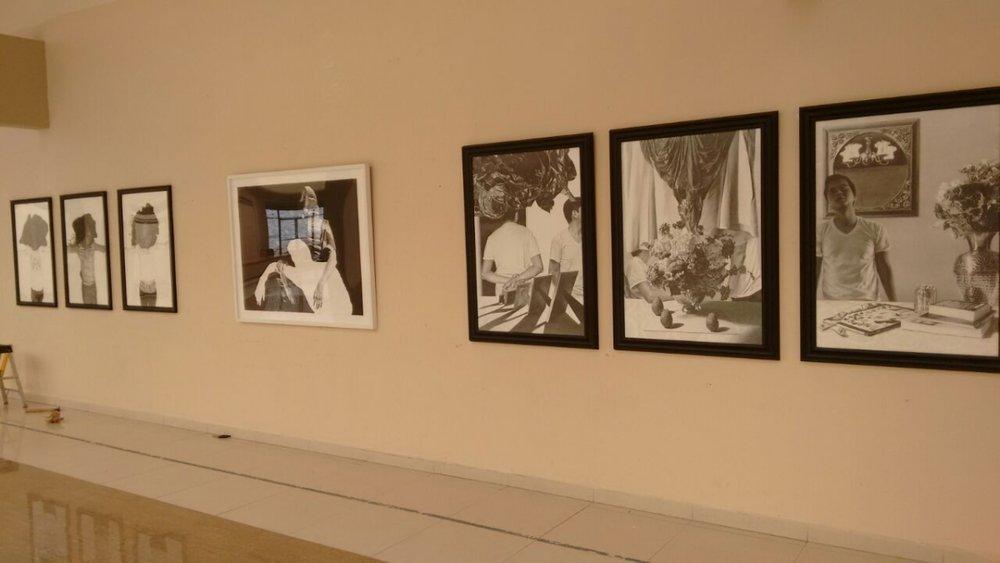 Installing Rigo Flores' exhibition in UTT Galería, Tijuana. 4-20-16  Photo credit: Arturo López González