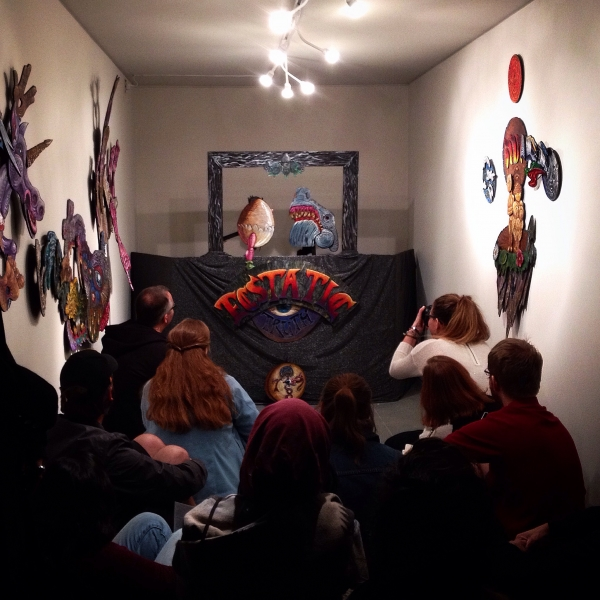 Dain Gore puppet show performance  photo credit-Amber D'Ambrosio, 11-21-14
