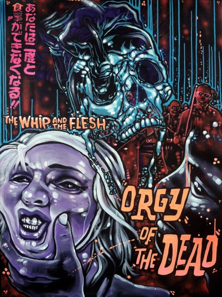 Orgy of the Dead, 2014  Acrylic on canvas 48 x 36 inches