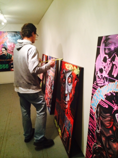 Photo Credit: Ted Decker Brent Bond installing, 1-15-15