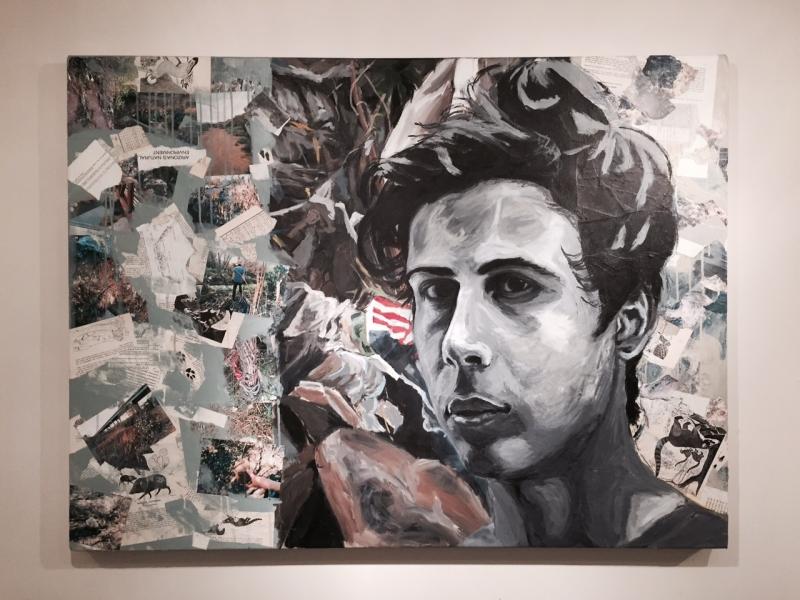 Salado (A Self Portrait), 2015  Mixed media, 36 x 48 inches