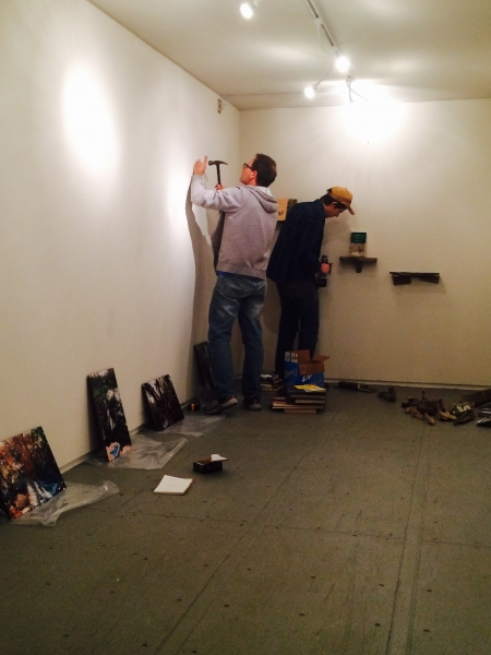 Brent Bond and Ben Peck installing, 2-19-15