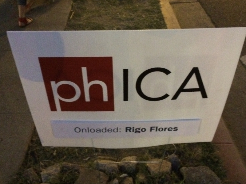 phICA sign, Rigo Flores, First Friday, 4-3-15