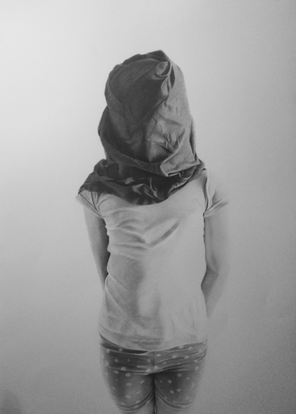 ¿Proxima Generacion? 1 , 2014, Graphite drawing, 40 x 27 inches, diptych