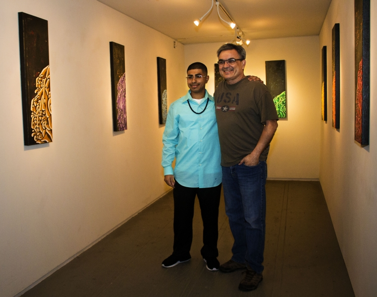 Edgar with friend, Third Friday, 10-16-15. Photo credit - Tania Ritko