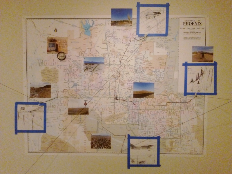Displaced Four Times, Installation View 5, Tulio's map