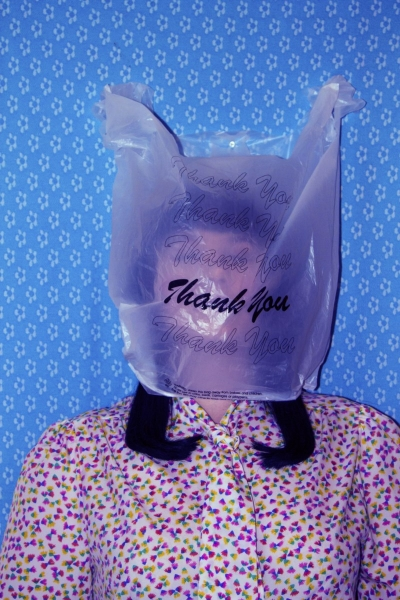 "No Thank You    Anonymous Self Portraits , 2015 Digital Color Archival Inkjet print with Hand Applied Processes 11 x 8.5""."