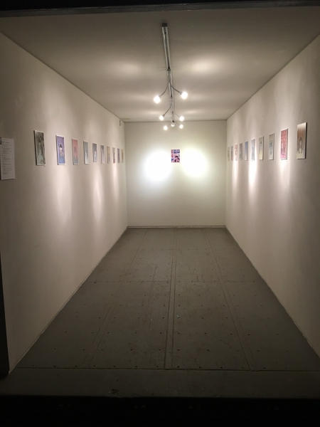 Installation view. Onloaded-Kelsey Duff, Anonymous Self-Portraits, Opening night, 11-20-15