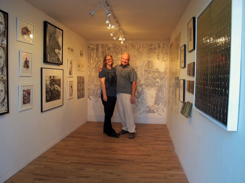 Carolyn Lavender and Ted Decker, Art Detour, 3-19-16.Photo credit: Monica Aissa Martinez