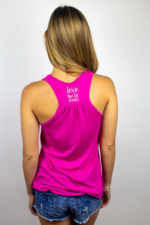 afe24d62627f58 I Hate Bug Bites - Ladies Flowy Racerback — Love Hate Apparel