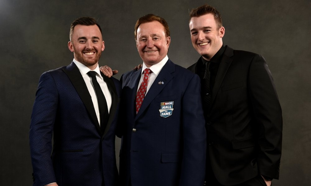 Childress at Hall of Fame - Childress and his two grandsons attending this year's Hall of Fame induction ceremony.