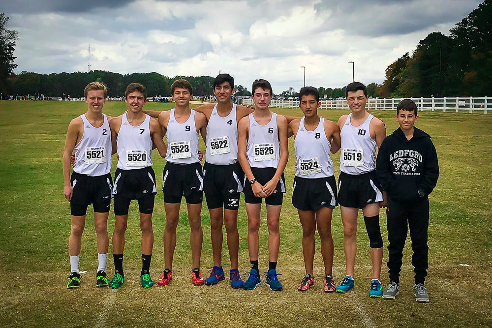 Justin Todd (3rd from left) with his Ledford High School team running mates.  Photo courtesy of Todd Family.