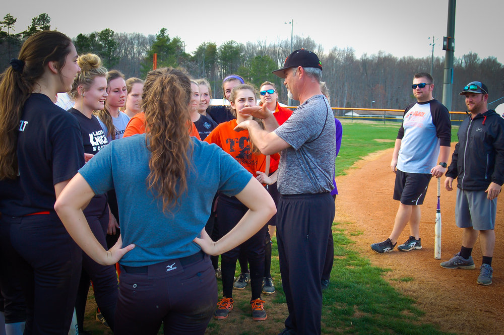 Berkley says the team's mindset is to end this season as NCHSAA 2A state softball champions.  Photo by Eliot Duke.