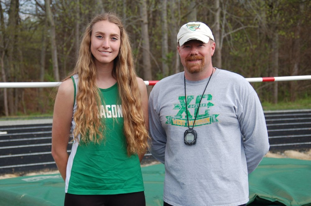 Athlete Mary Nebrich with Coach Kevin Troy. Photo by Gini Chauncey.