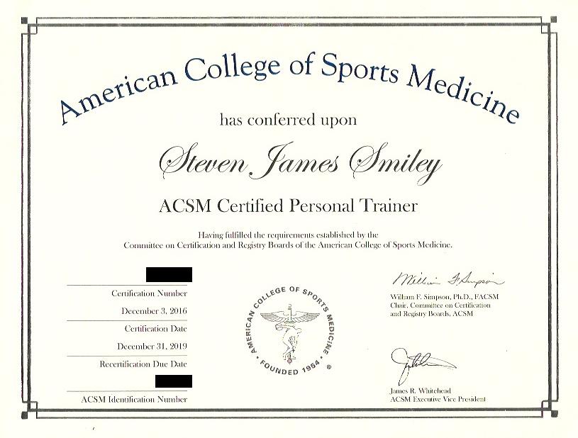 Personal Training Packages Stevesmileyfit40