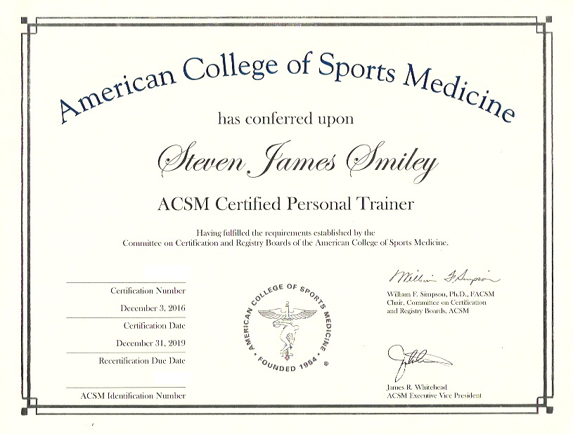 certifications — stevesmileyfit4.0