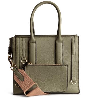 H&M Khaki Green Handbag