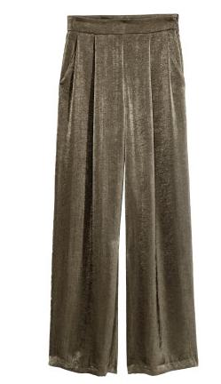 H&M Wide-Cut Satin Pants