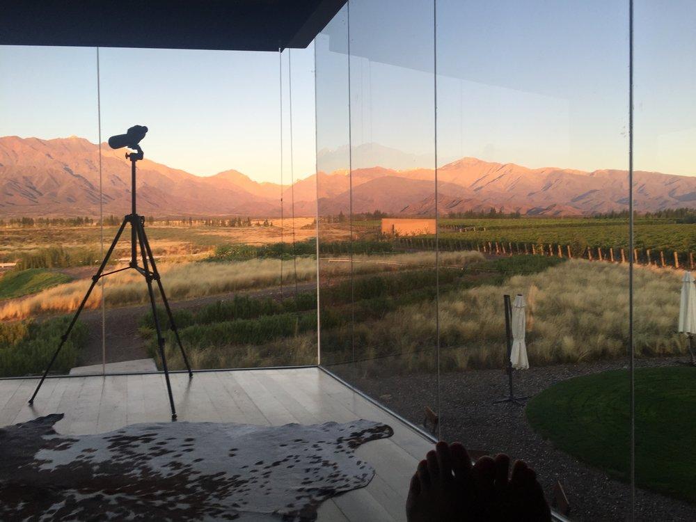 View from Casa de Uco in Mendoza, Argentina