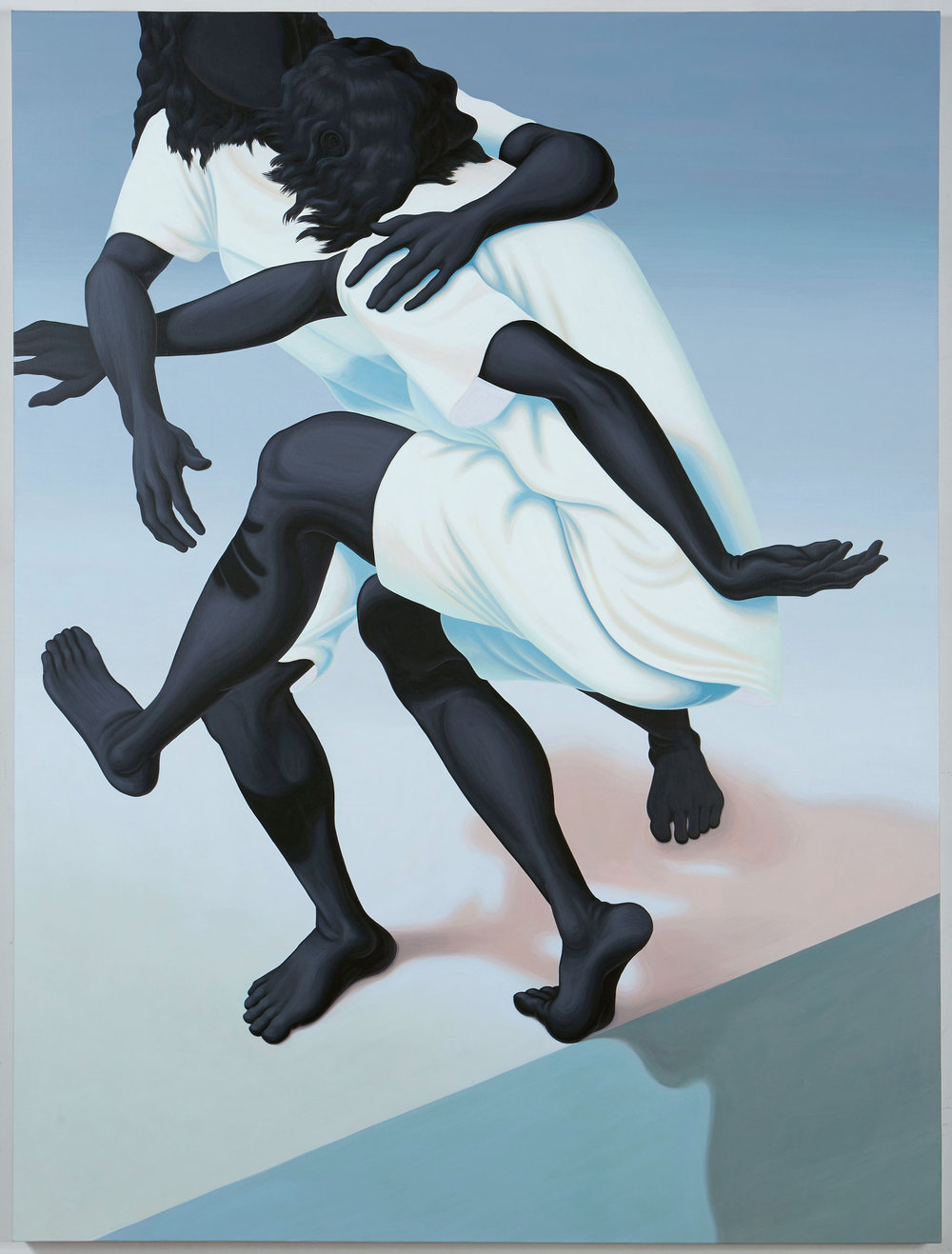 Alex Gardner  - Peptalk on PCH , 2017, acrylic on linen, 162.5 x 122 cm.Image courtesy The Hole.