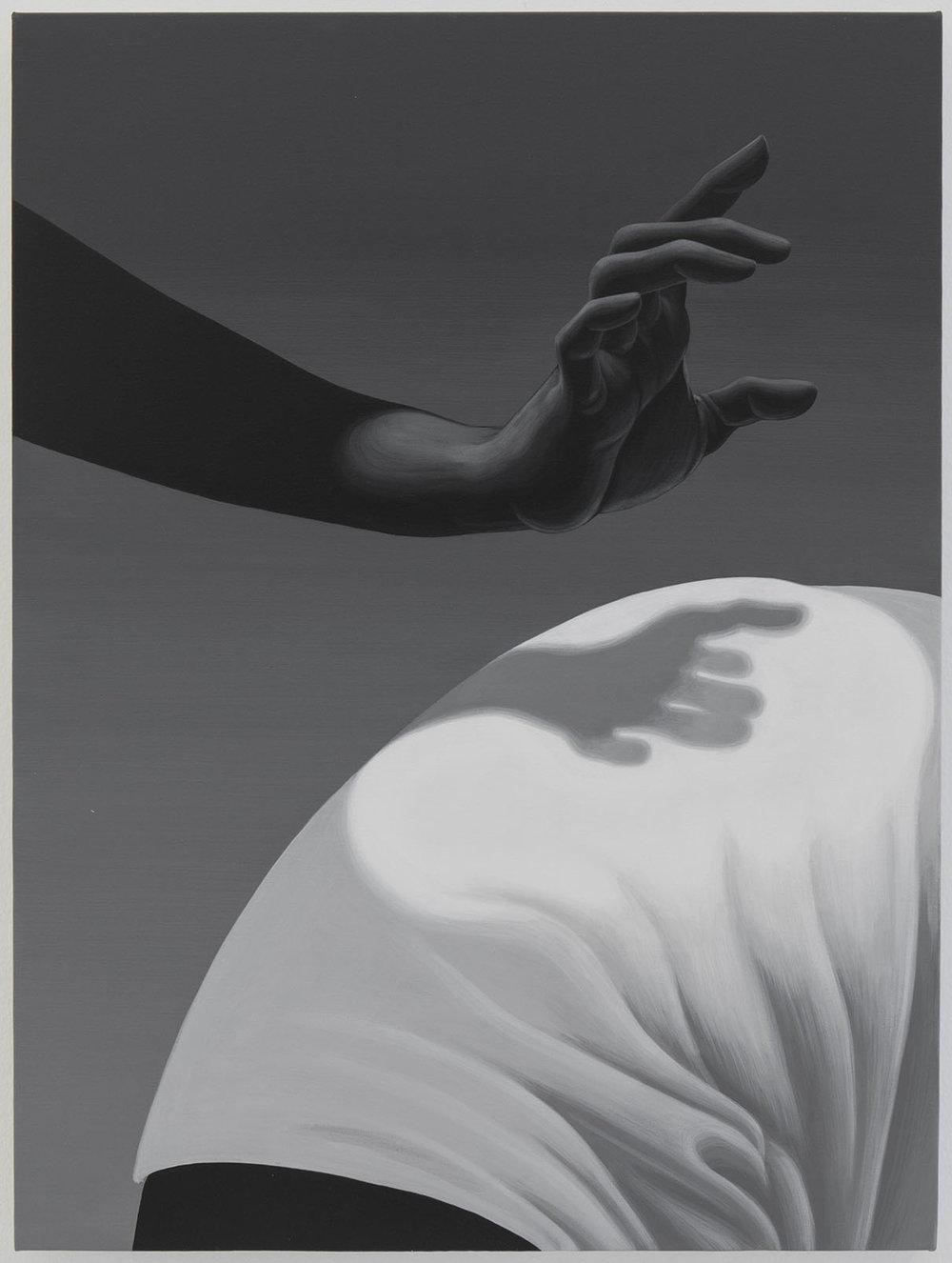 Alex Gardner -  Untitled , 2017, acrylic on linen,61 x 45.5 cm.Image courtesy The Hole.