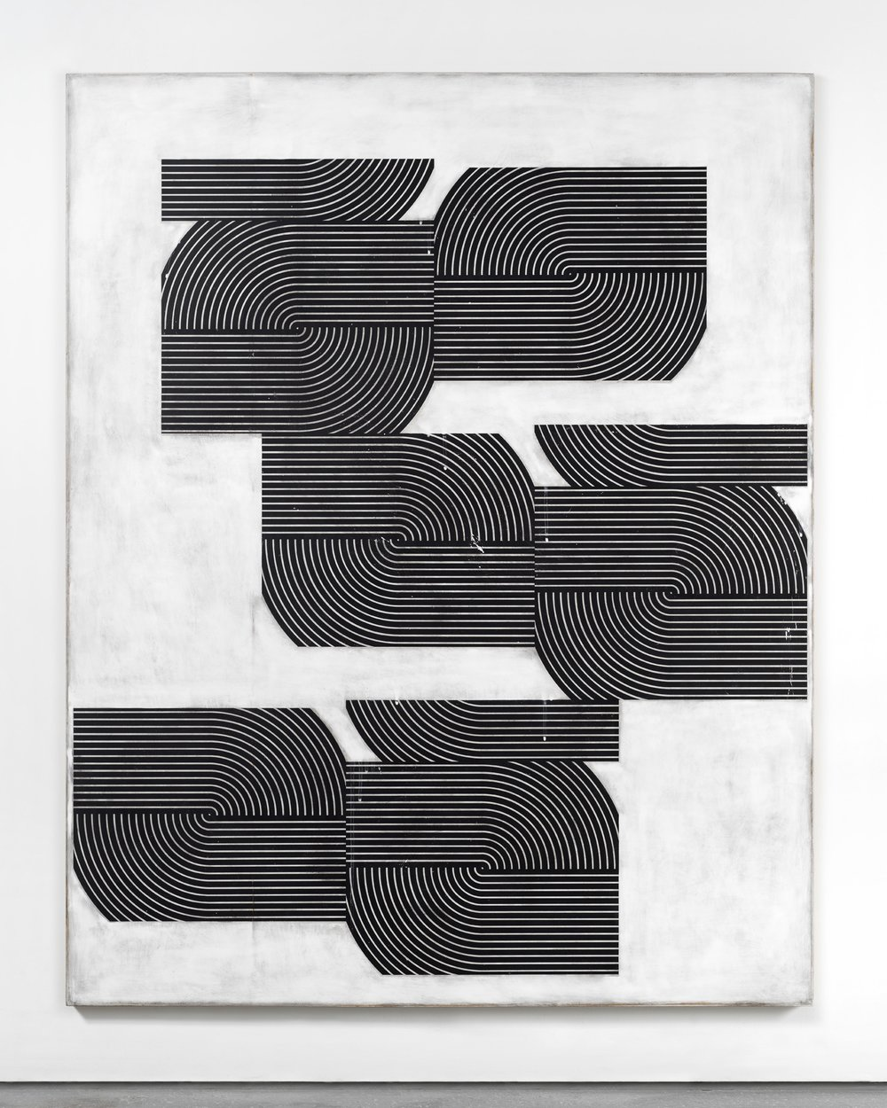 Davide Balliano -  Untitled_0074 , 2017,Plaster, gesso & lacquer on wood, 80 x 64 inches.Image courtesy Pablo's Birthday.