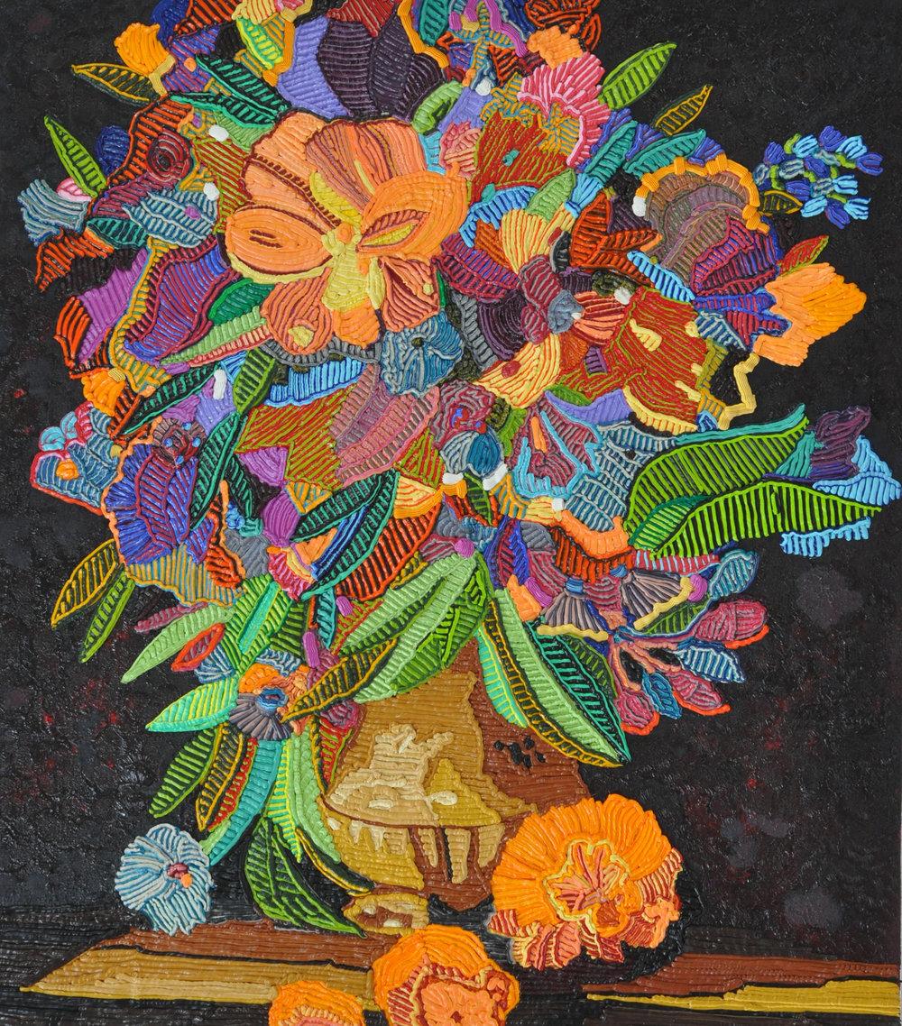Caroline Larsen - Paint by Numbers  2017.Oil on Canvas, 31 x 27 inches.Image courtesy Caroline Larsen.