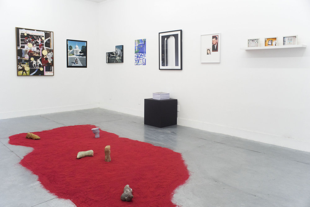 Installation view: 'Imagined Communities, Nationalism & Violence'. Image courtesy Rubber Factory.