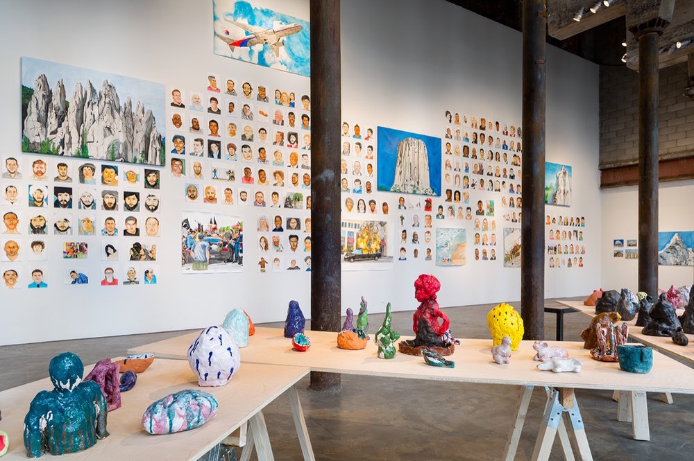 Installation view of  Everything in the Universe is My Brother by Rudy Shepherd.Image courtesy of Smack Mellon.Photo by Etienne Frossard.