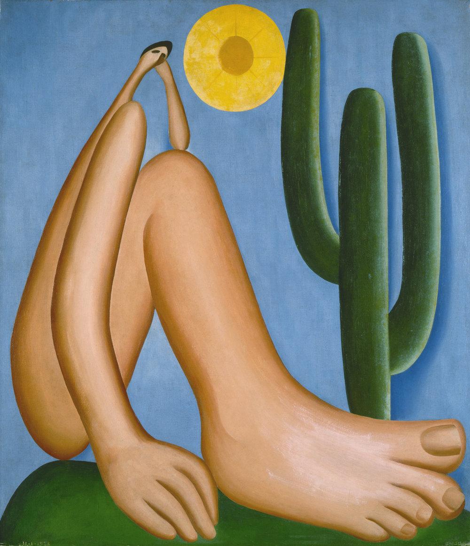 Tarsila do Amaral.Abaporu, 1928. Oil on canvas. 33 7/16 x 28 3/4 in. (85 x 73 cm). Collection MALBA, Museo de Arte Latinoamericano de Buenos Aires. © Tarsila do Amaral Licenciamentos.