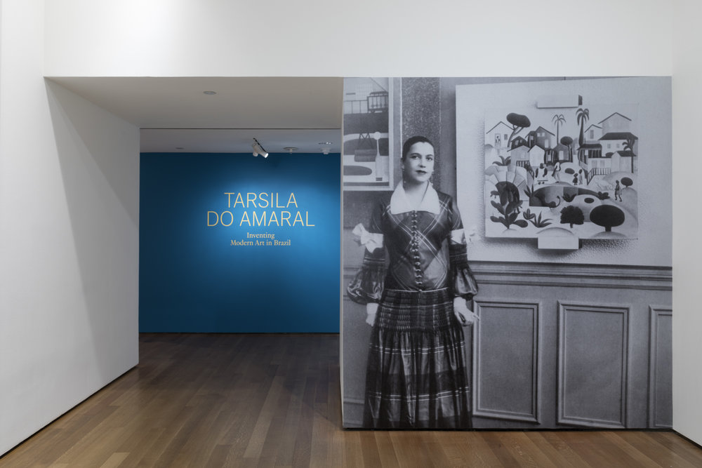 Installation view of Tarsila do Amaral: Inventing Modern Art in Brazil, The Museum of Modern Art, New York, February 11–June 3, 2018. © 2018 The Museum of Modern Art. Photo: Robert Gerhardt