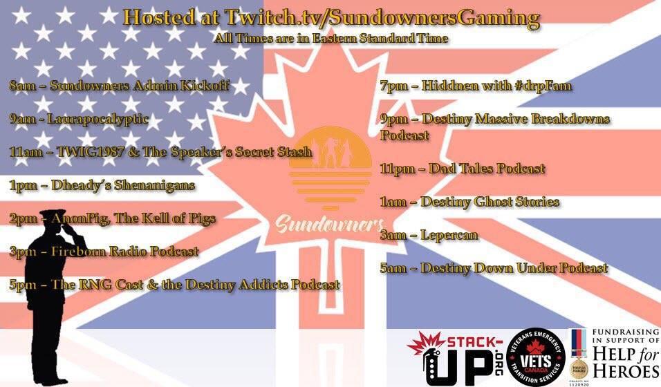 Sundowners Charity Stream 2017