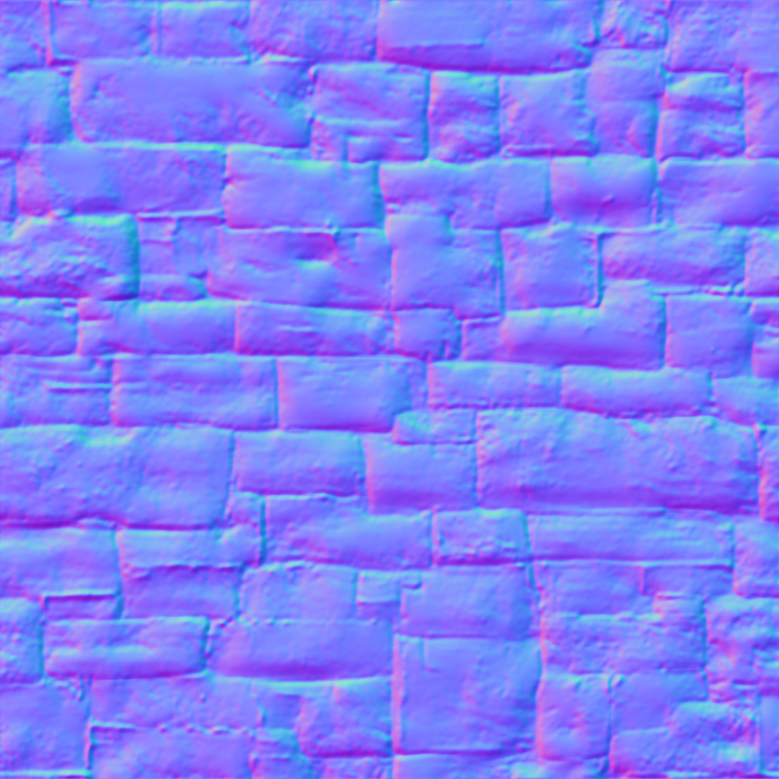 texture sample BRICK PAINTED_normal.jpg