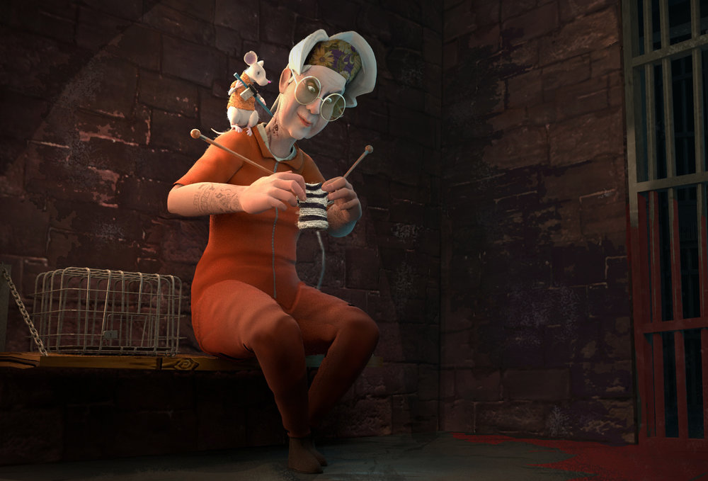 TERESA THE PRISON GRANDMA - Modeled, Rigged and Animated in Maya, Textured in Substance and Rendered through Arnold,