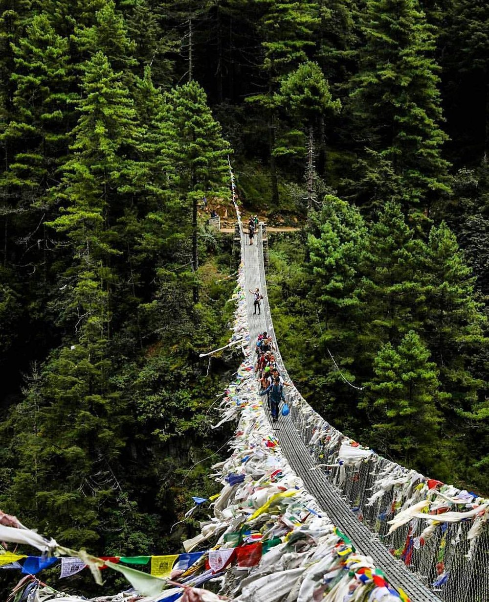 The Suspension Bridge inside Sagarmatha National Park Photograph by yeahgnarly