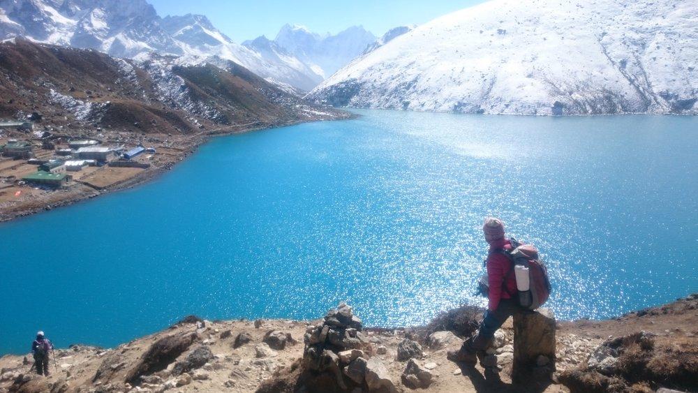 Witnessing the heaven feeling of the Gokyo lake