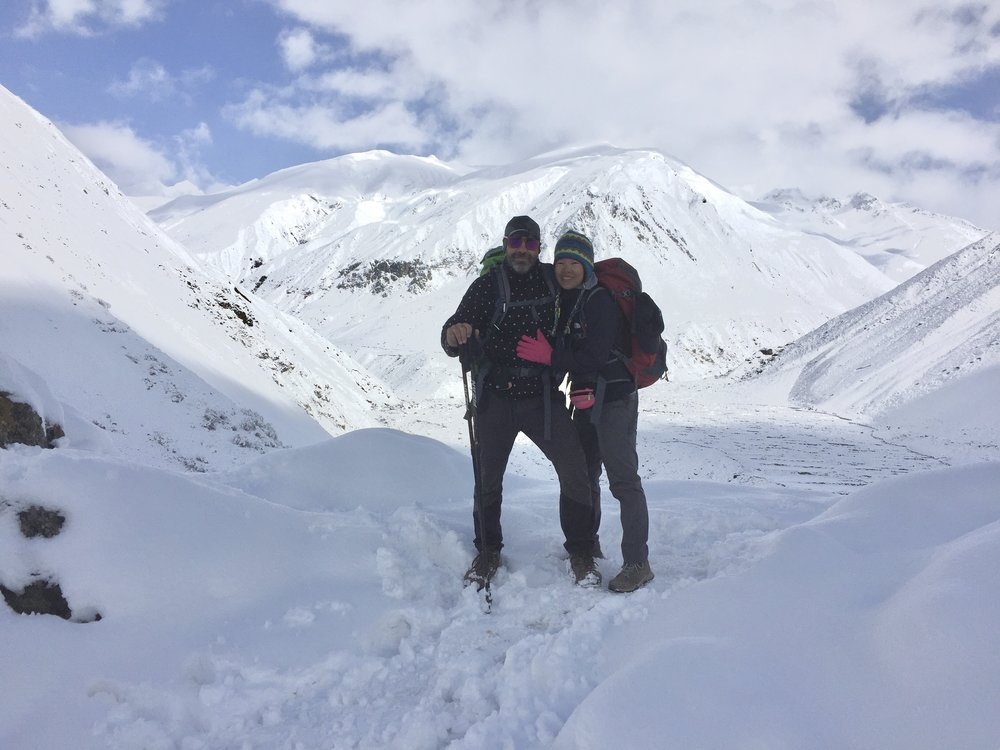 Thick snow in Samdo (3,865m) - Manaslu Conservation Area