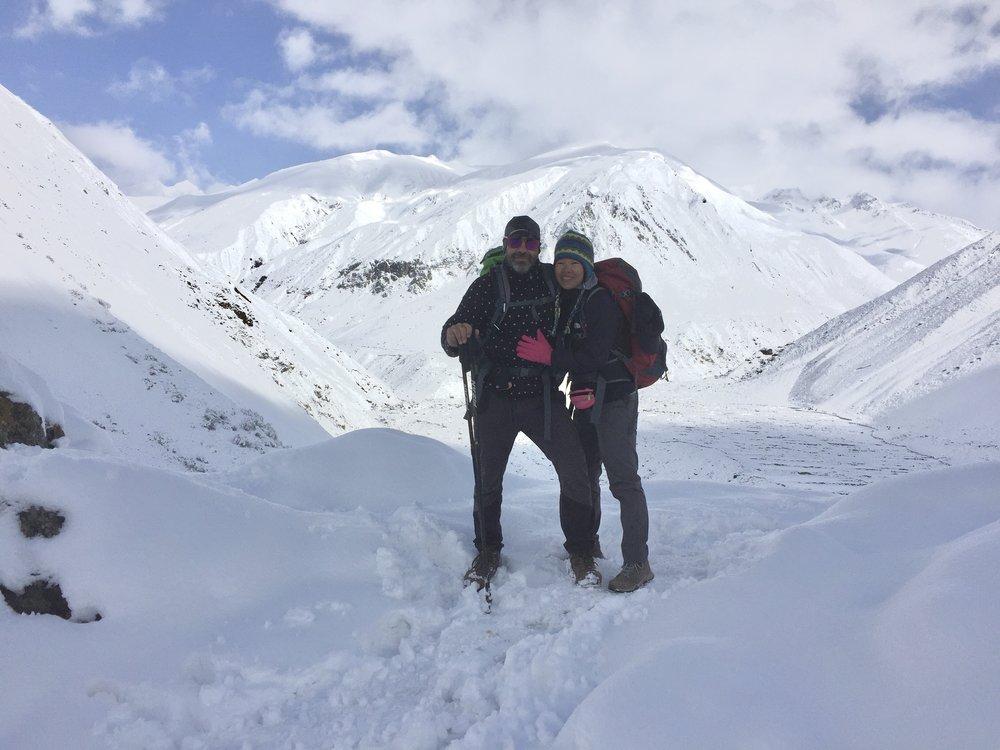 Tuyết rơi dày ở Samdo (3,865m) - Khu bảo tồn Manaslu