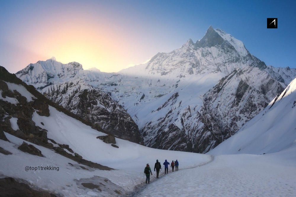 Set your foot at the bottom heart of Annapurna Base Camp where you are surrounded by snow and many 8000m peaks.