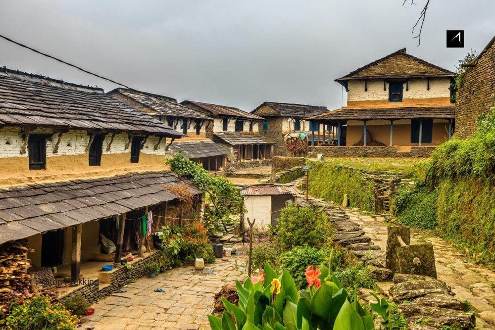 Ngôi làng Dhampus trong hành trình trek Australian Camp