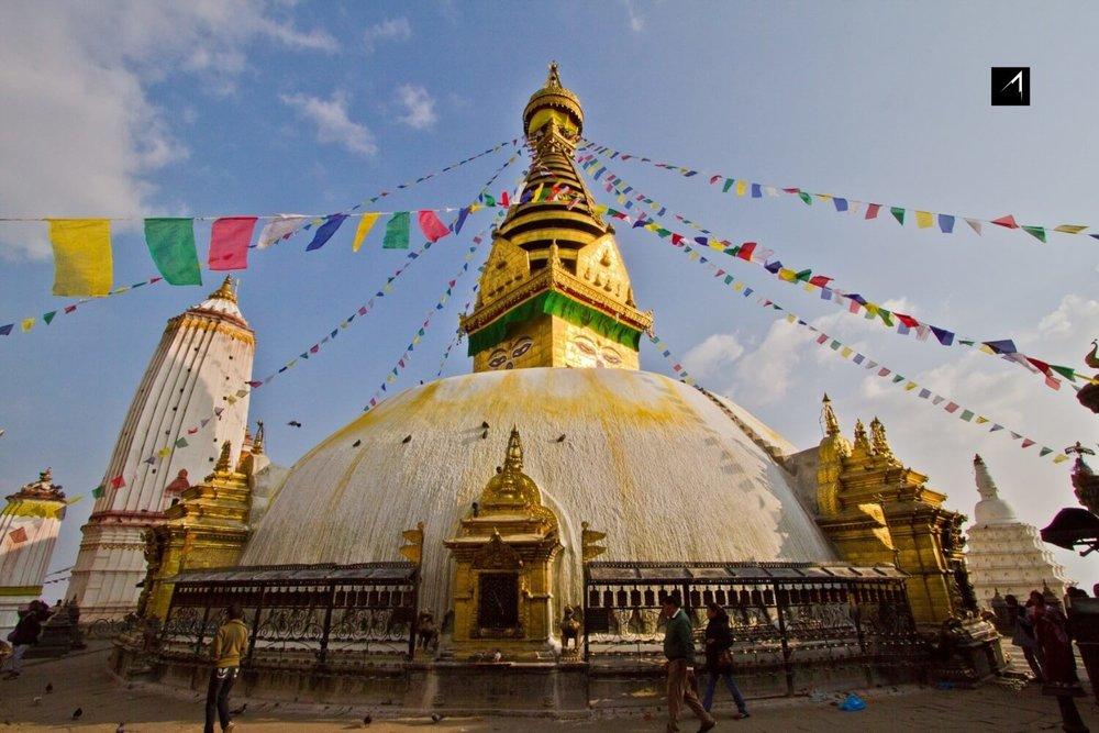 Bouddhanath Stupa in Kathmandu Valley