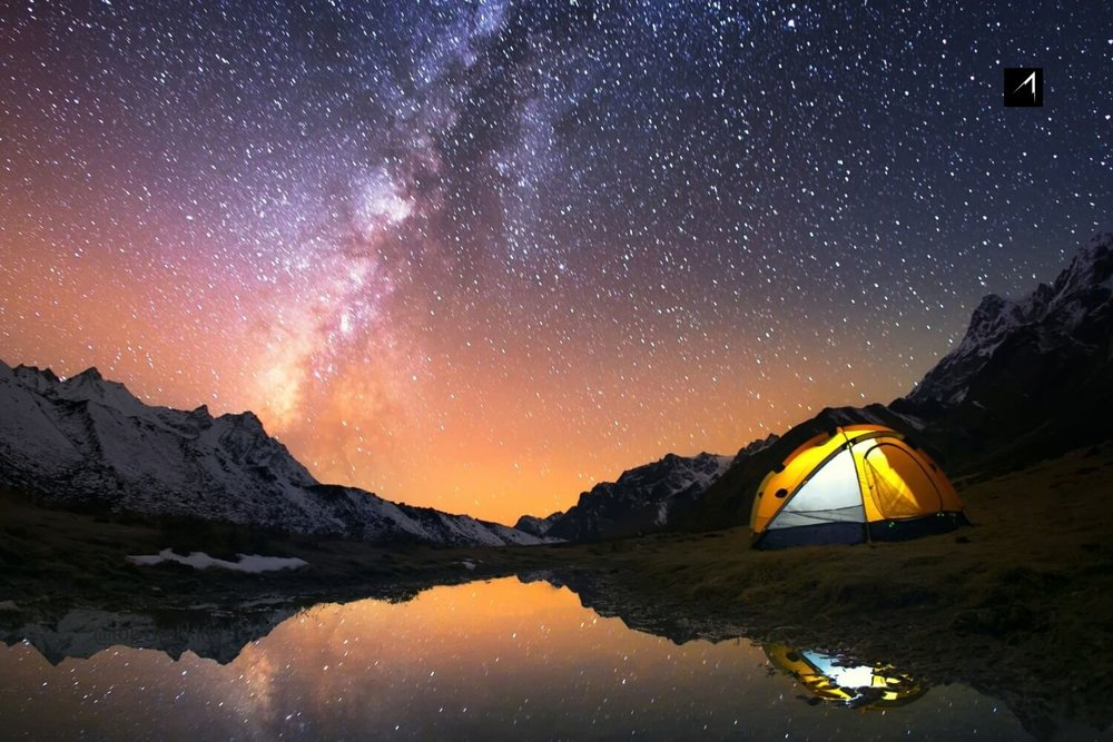 Camping under starry starry night, Kangchenjunga Region