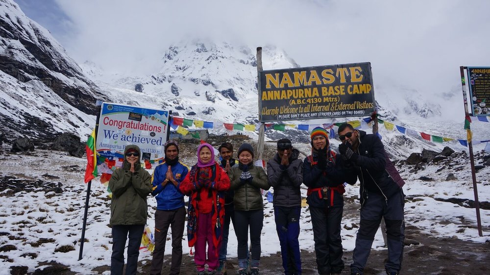 NAMASTE at Annapurna Base Camp 4,130m