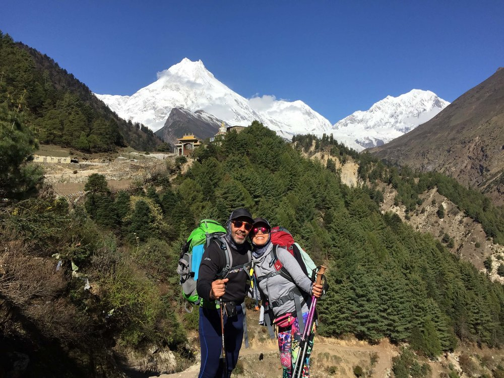Manaslu, 8th highest mountain in the world behind us